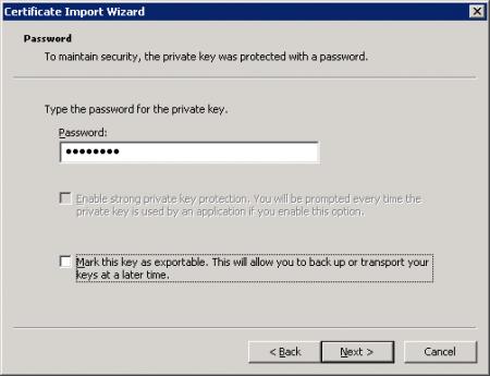 Export an Exchange Server 2010 Certificate to Exchange 2003