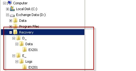 Recovered data in Windows Explorer