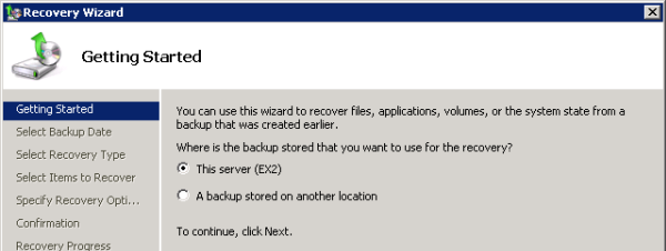 Choose the Backup Location to Restore from