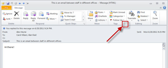 Outlook accessibility settings
