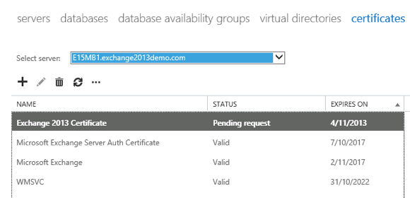 Create an SSL Certificate Request for Exchange Server 2013