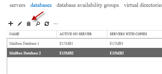 """Exchange 2013 Database Removal Error: """"This mailbox database contains one or more mailboxes"""""""