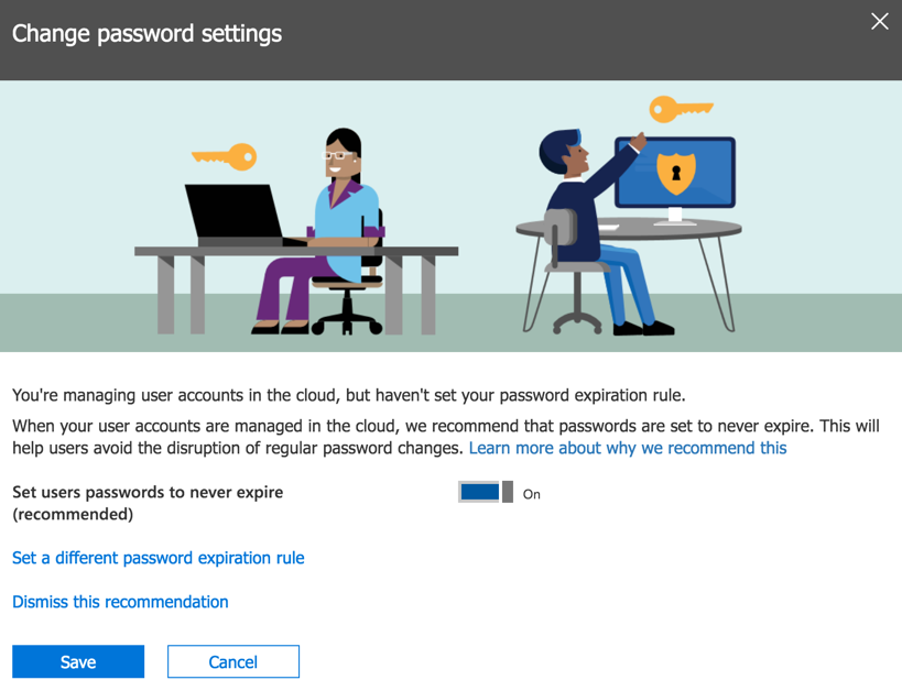 Microsoft Recommending Non-Expiring Passwords to Office 365 Customers