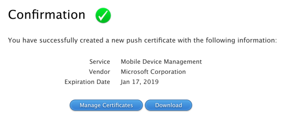 Renewing an Apple Device Enrolment Certificate for Intune