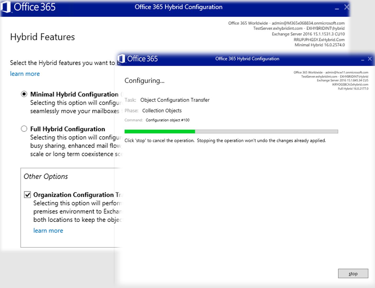 Exchange Hybrid Screenshot
