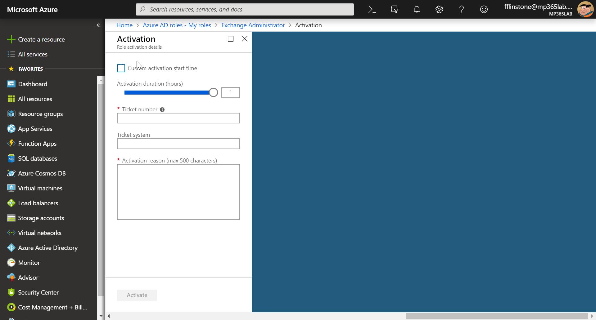Activation screenshot