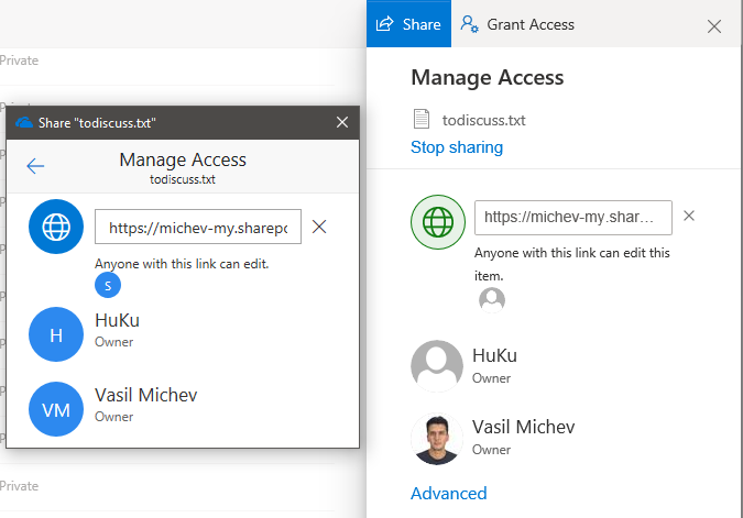 SharePoint Online Sharing Options
