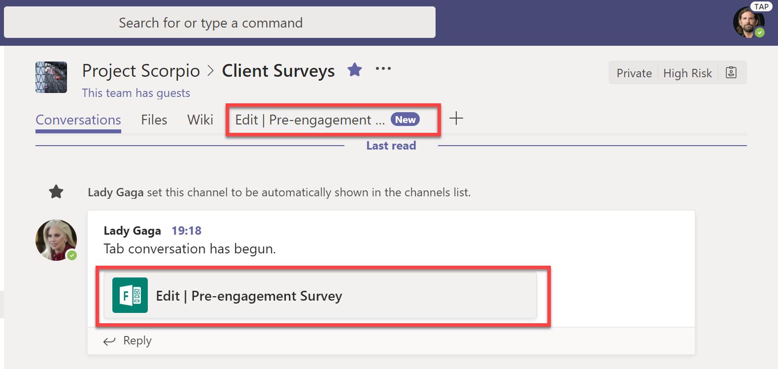 Edit pre-engagement survey
