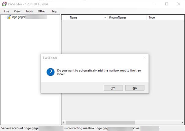 Automatically add mailbox screenshot