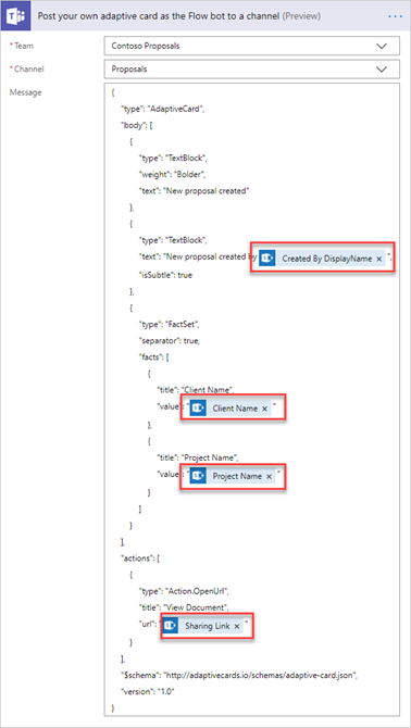 Creating Adaptive Cards in Microsoft Teams