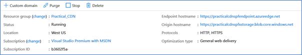 Custom domain for Azure CDN
