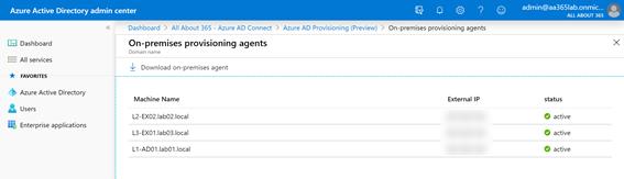 On-premises provisioning agents