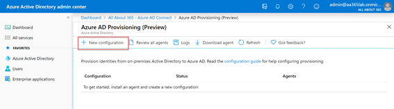 Azure AD Provisioning (Preview) New Configuration