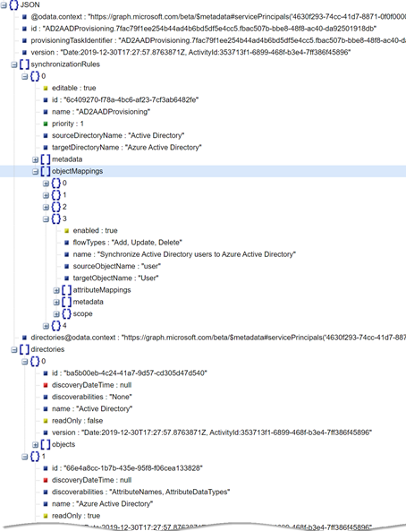 Azure AD Connect Object mappings