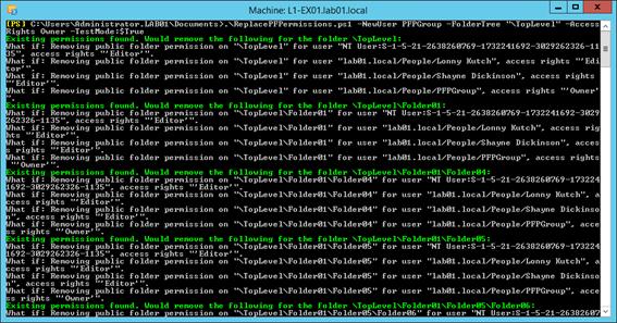 Remove public folder client permission