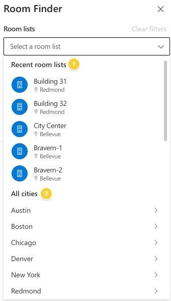 How to configure the new Room Finder in Outlook