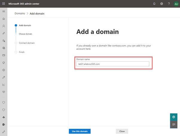 Add a custom domain for Office 365