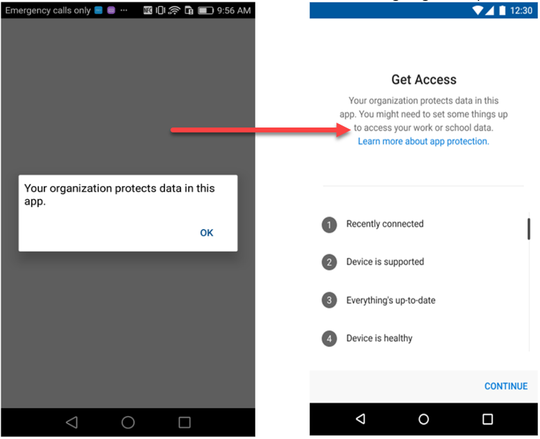 App Protection Policies changes