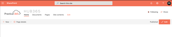 SharePoint Online intranet example