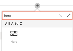 Add a hero web part