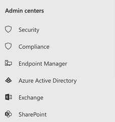 Admin Centers