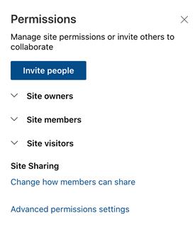 Permission - Invite people