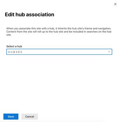 Edit hub association