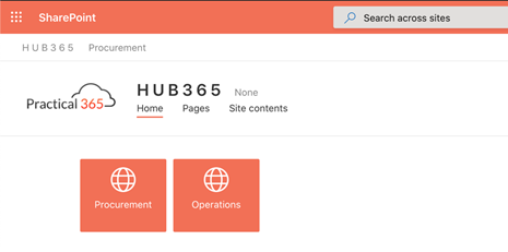 Example of SharePoint Online Team Sites look