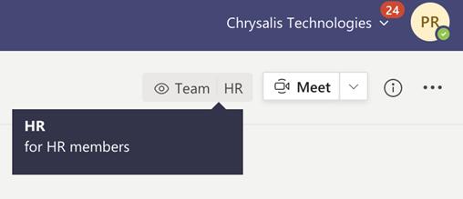 HR sensitivity label screenshot