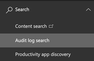 Audit log search
