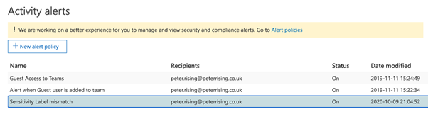 Using sensitivity labels with SharePoint sites, Microsoft Teams, and M365 groups – Part 3