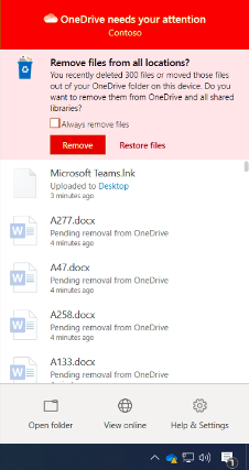 Require users to confirm large delete operations