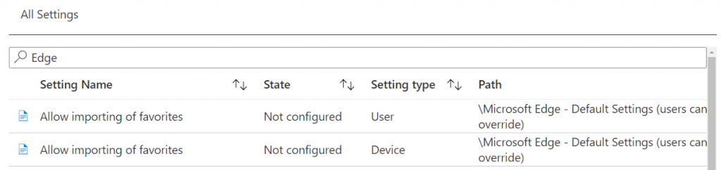 Intune policies for a user-friendly Edge Chromium deployment