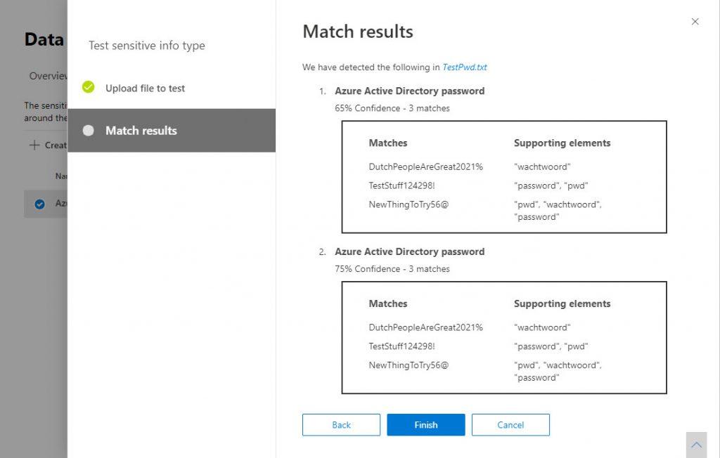 Testing a custom sensitive information type